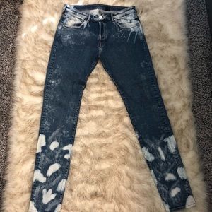 Acid Washed Denim Jeans! Hardly worn!